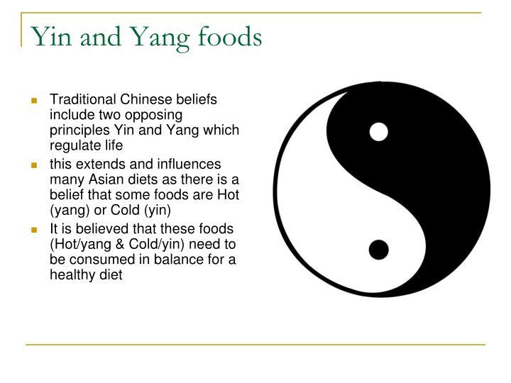 Yin and Yang foods