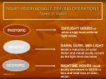 night vision goggle driving operations types of vision