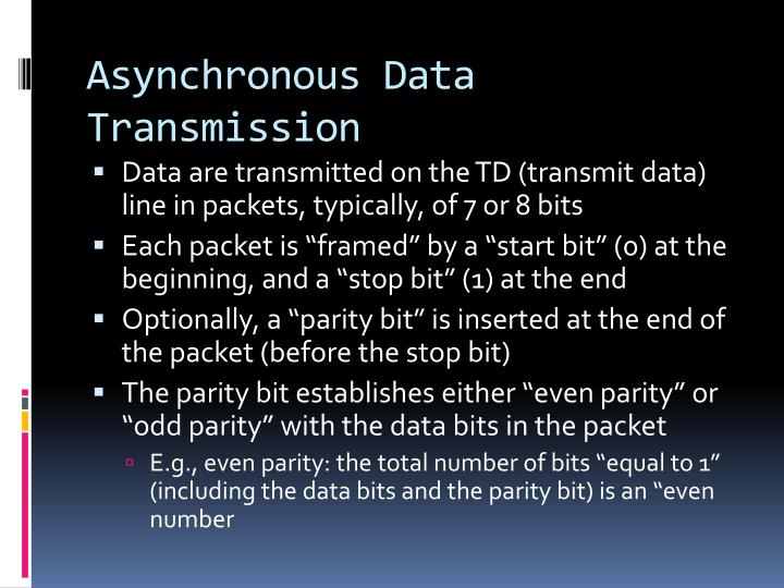 Asynchronous Data Transmission