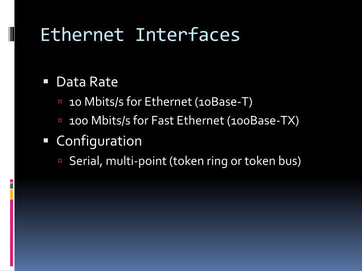 Ethernet Interfaces