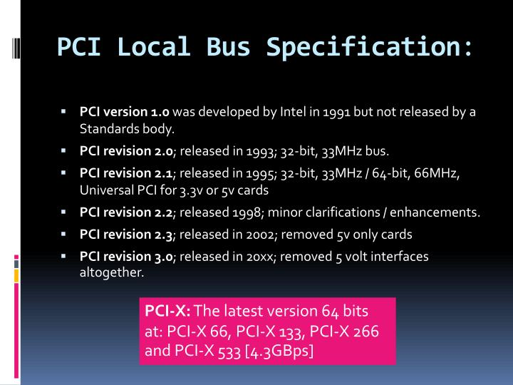 PCI Local Bus Specification