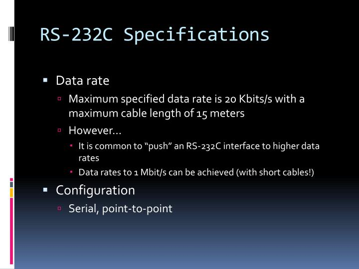 RS-232C Specifications