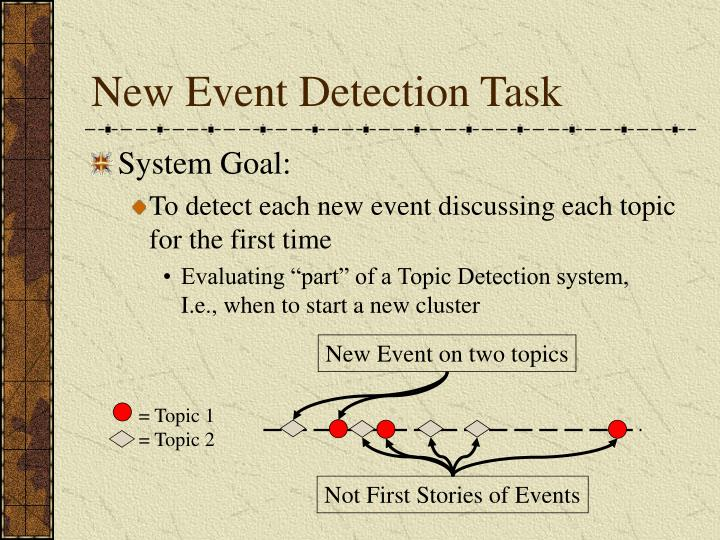 New Event Detection Task