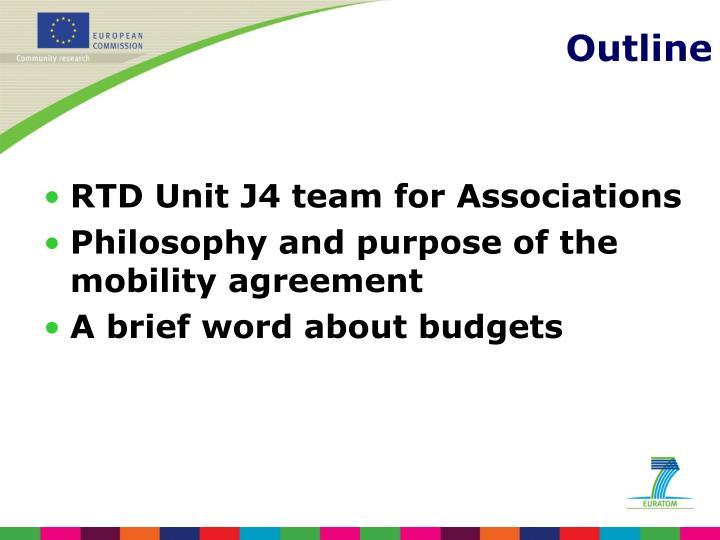 RTD Unit J4 team for Associations