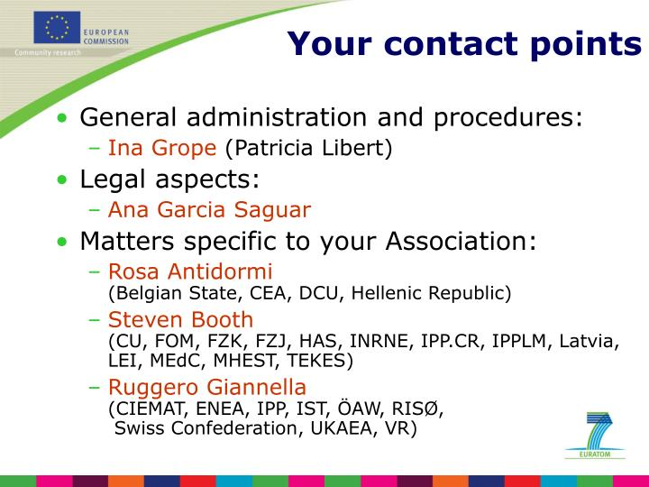 General administration and procedures: