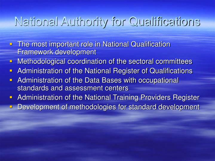 National Authority for Qualifications