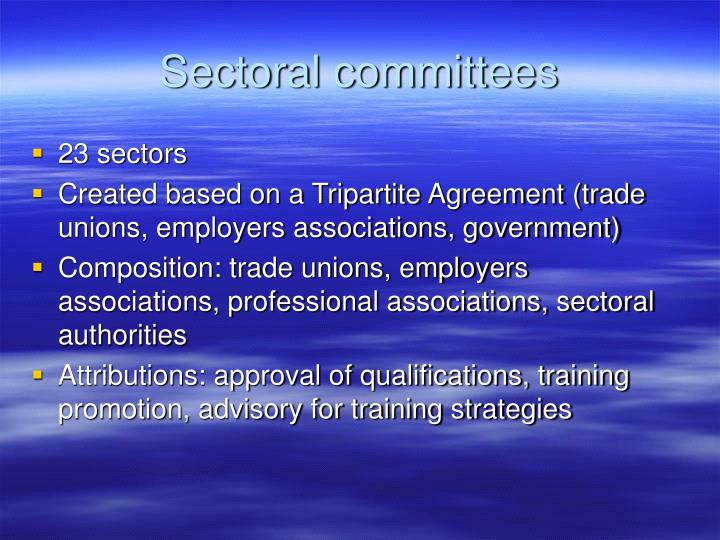 Sectoral committees