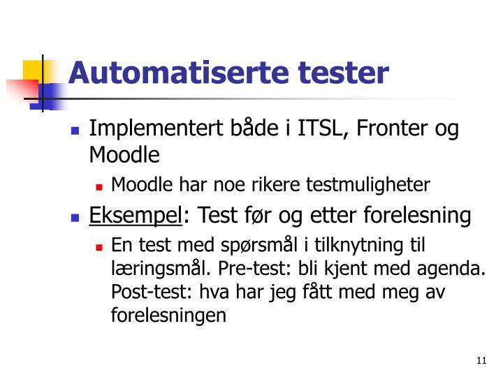 Automatiserte tester