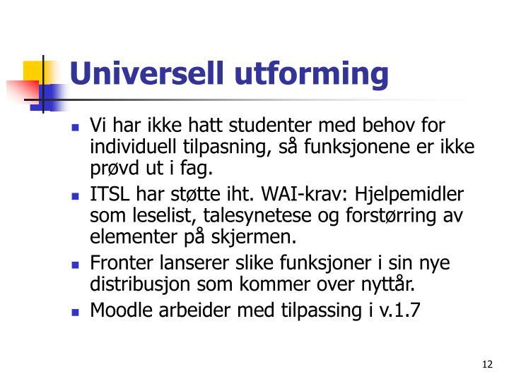 Universell utforming