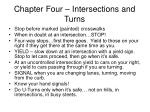 chapter four intersections and turns