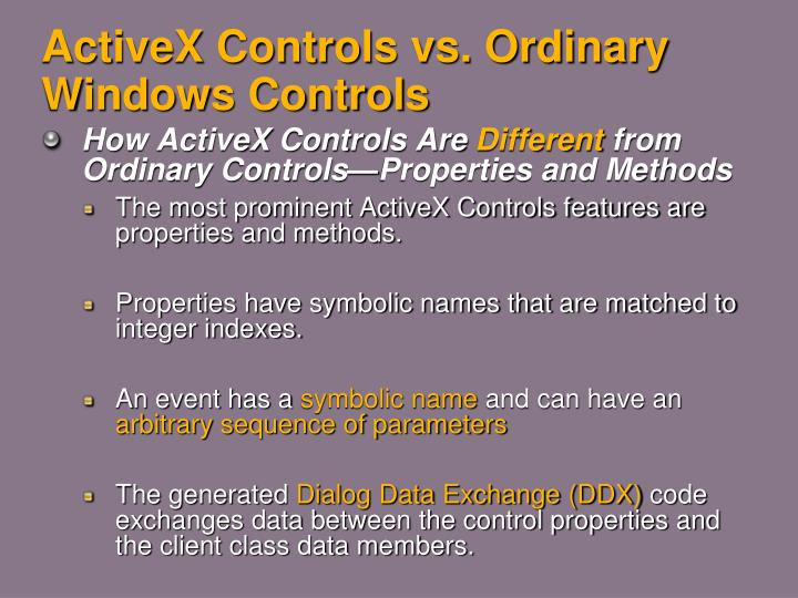 Activex controls vs ordinary windows controls1