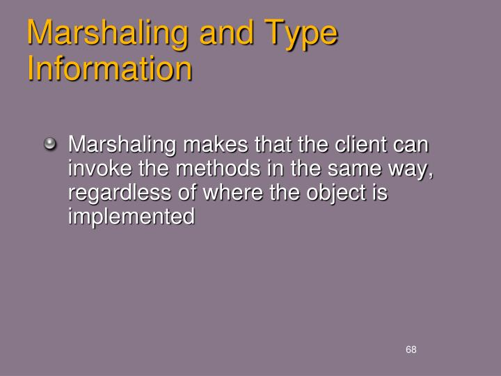 Marshaling and Type Information