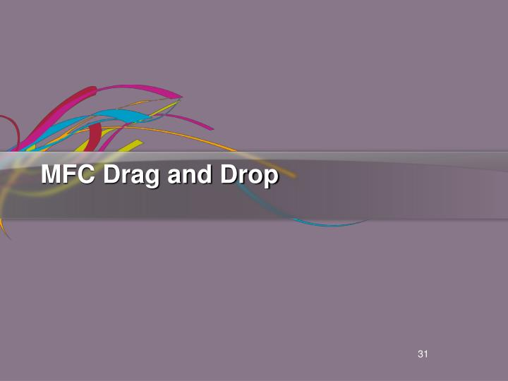 MFC Drag and Drop