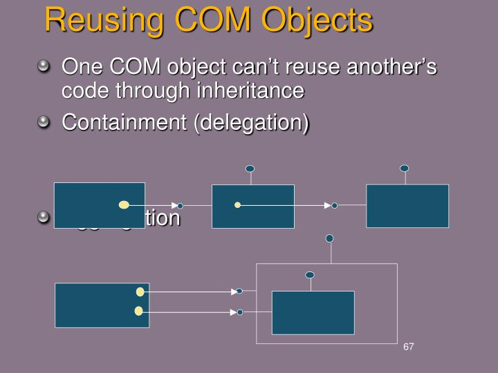 Reusing COM Objects