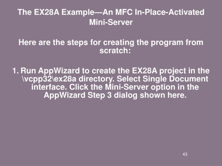 The EX28A Example—An MFC In-Place-Activated