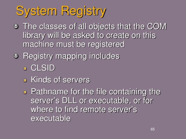 System Registry
