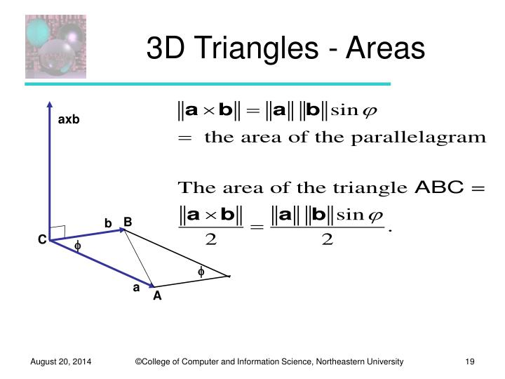 3D Triangles - Areas