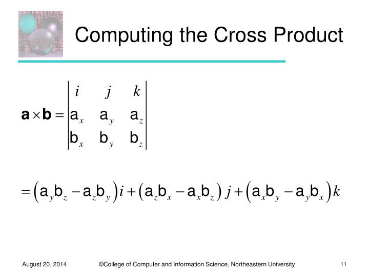Computing the Cross Product