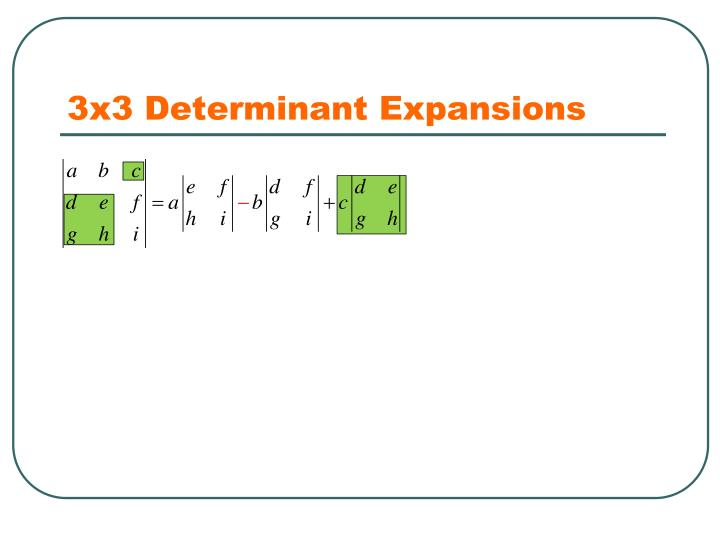 3x3 Determinant Expansions