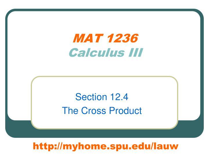 MAT 1236