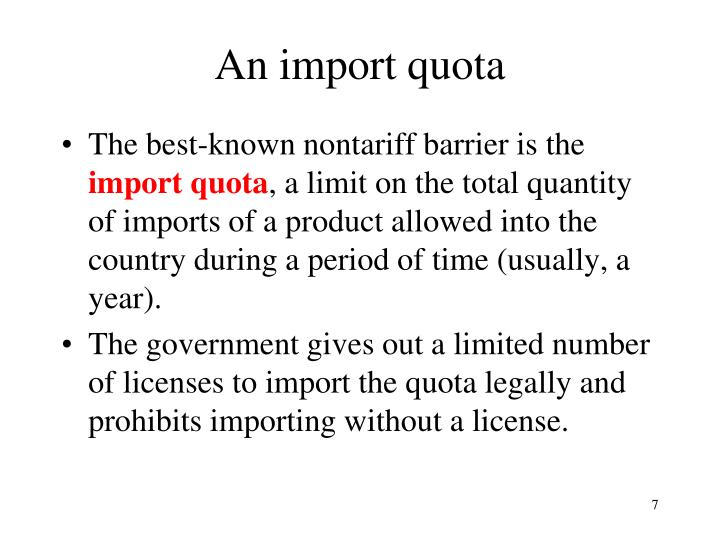 An import quota