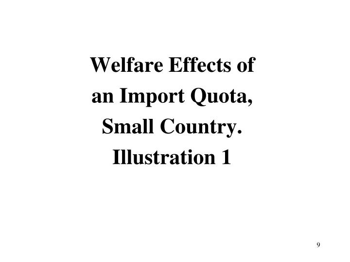 Welfare Effects of