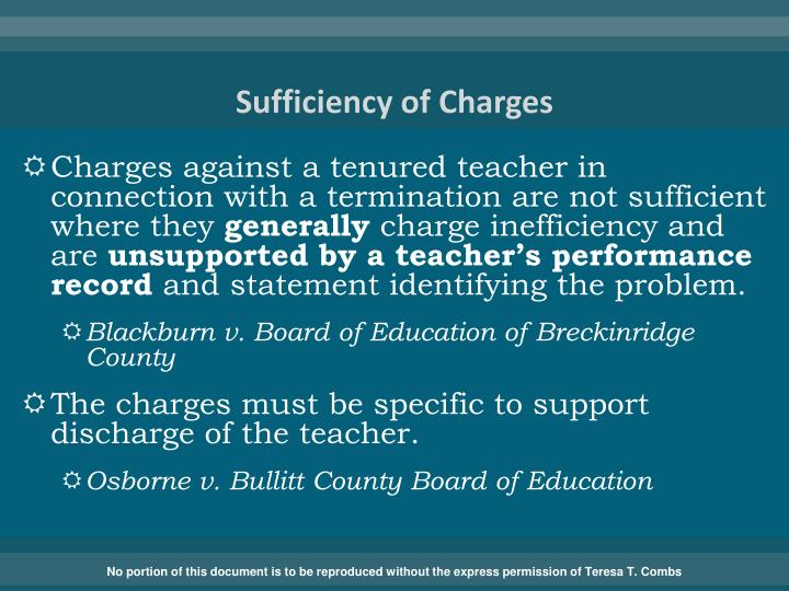 Sufficiency of Charges