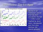earth today the ice ages