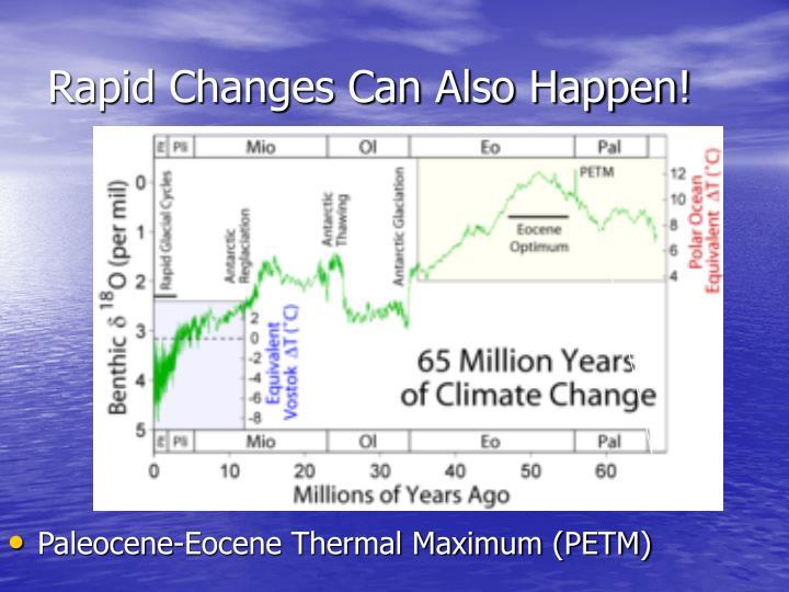 Rapid Changes Can Also Happen!