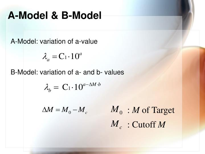 A-Model & B-Model