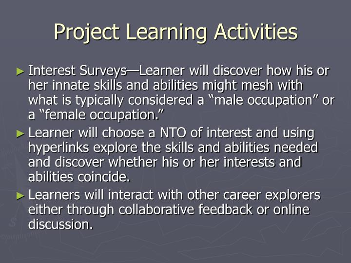 Project Learning Activities