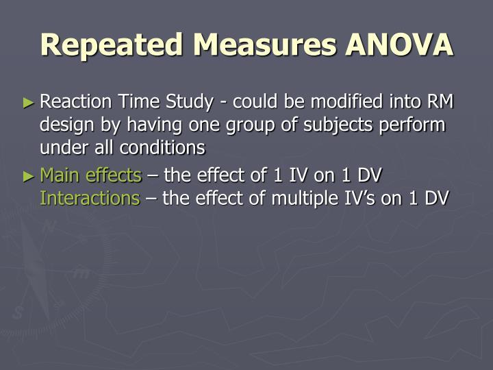 Repeated Measures ANOVA