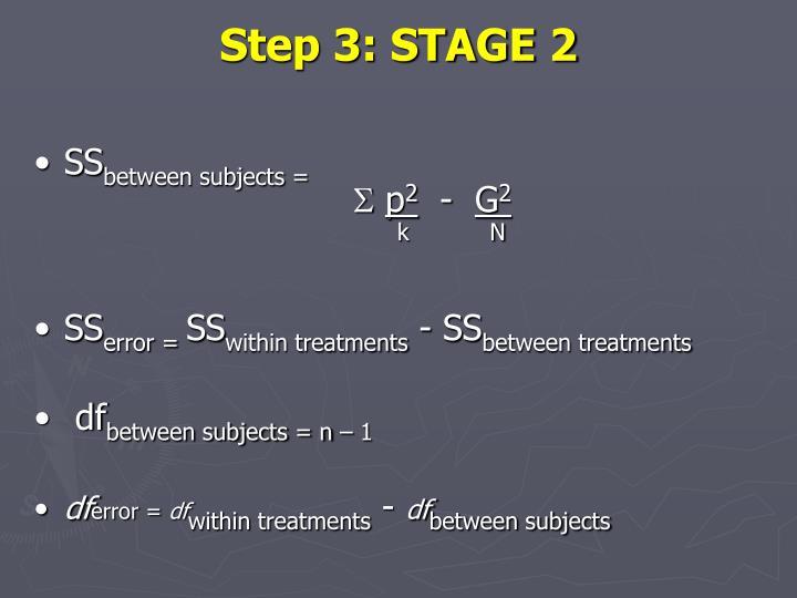 Step 3: STAGE 2