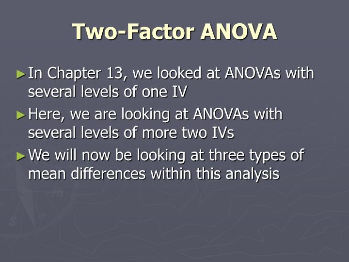 Two-Factor ANOVA