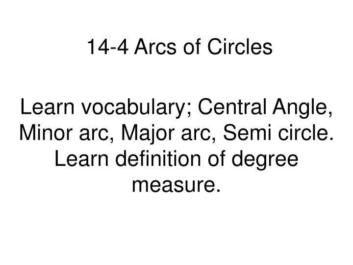 14 4 arcs of circles