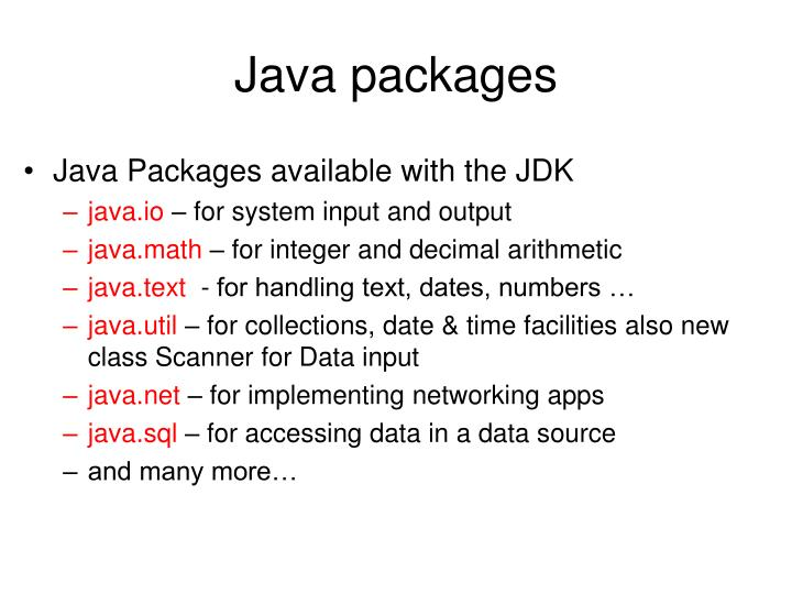 Java packages