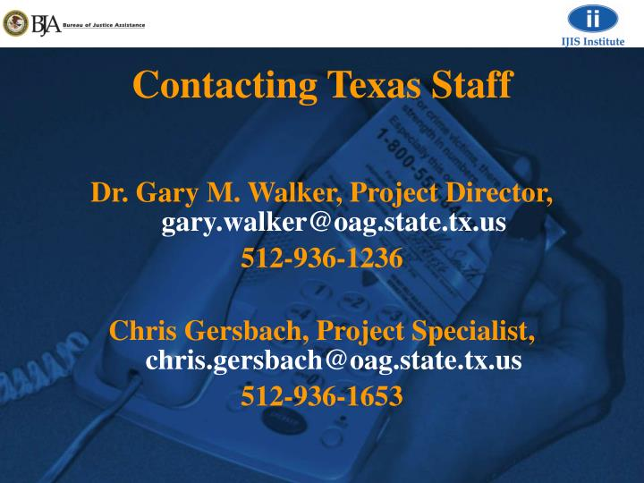 Contacting Texas Staff