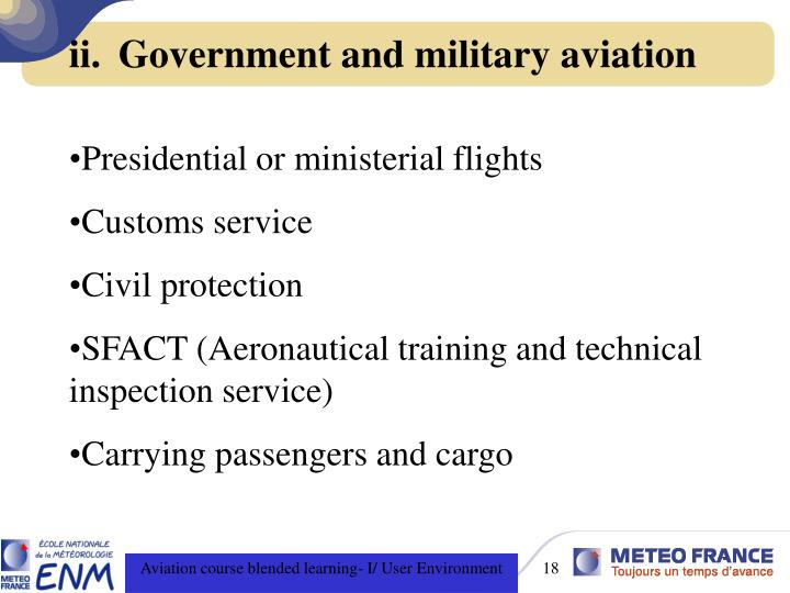 Government and military aviation