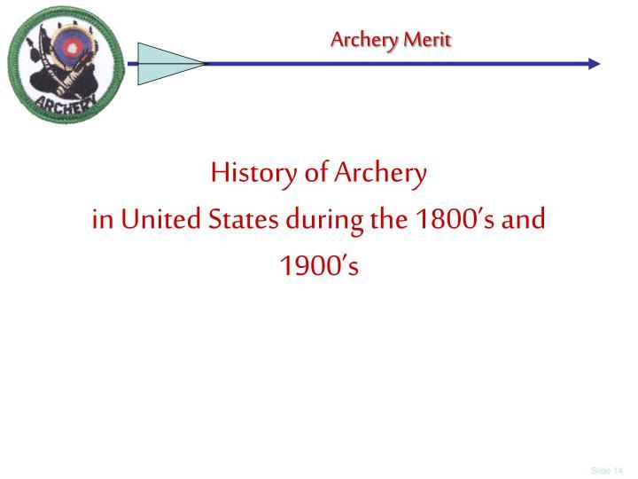 History of Archery