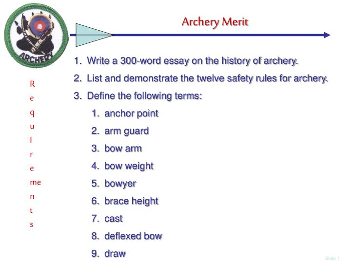 Write a 300-word essay on the history of archery.
