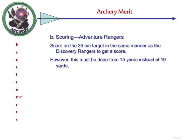 b. Scoring—Adventure Rangers