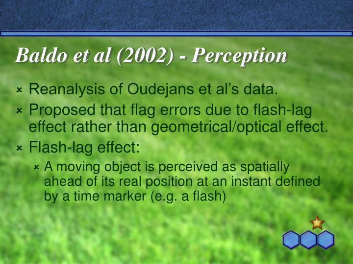 Baldo et al (2002) - Perception