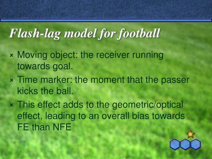 Flash-lag model for football