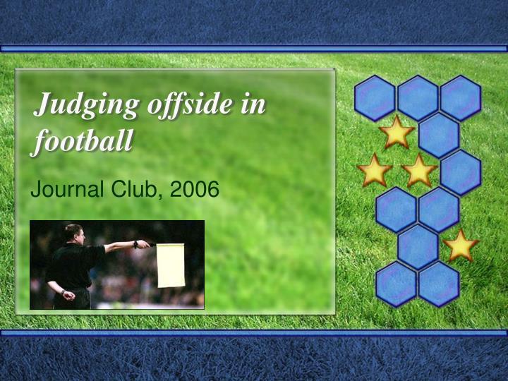 judging offside in football