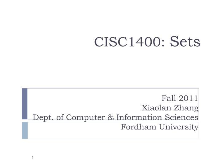 cisc1400 sets