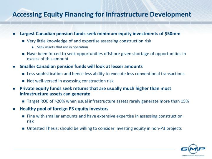Accessing Equity Financing for Infrastructure Development