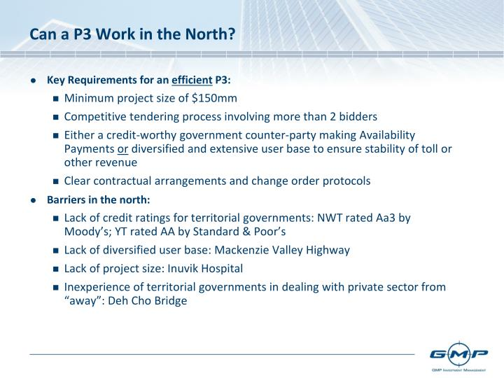 Can a P3 Work in the North?