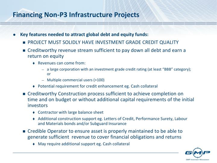 Financing Non-P3 Infrastructure Projects