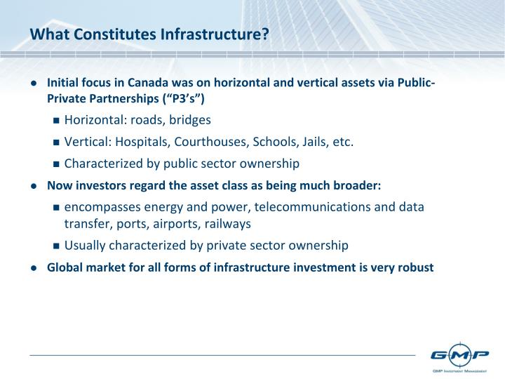 What Constitutes Infrastructure?