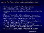 about the association of air medical services
